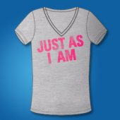 JUST AS I AM (V-neck)